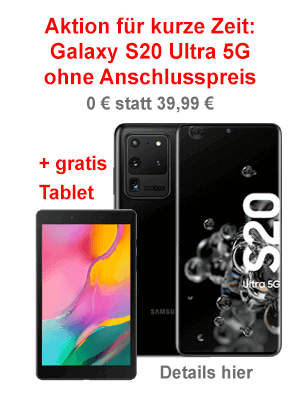 Samsung Galaxy S20 Ultra 5G Angebot