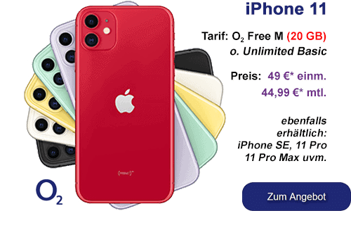 iPhone 11 günstig bei o2