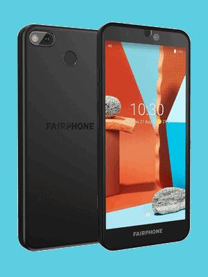 o2 - Fairphone 3+ (schräg / schwarz)