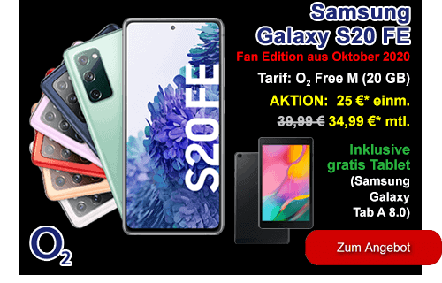 Samsung Galaxy S20 FE mit gratis Tablet - Black Week Deal