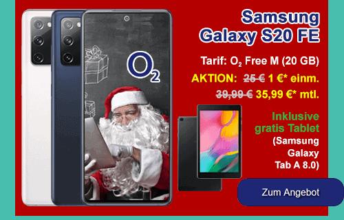 o2 Angebot - Samsung Galaxy S20 FE mit gratis Tablet