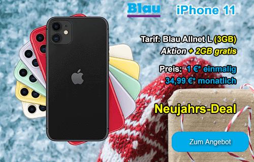 Neujahrs-Angebot von Blau.de - Apple iPhone 11