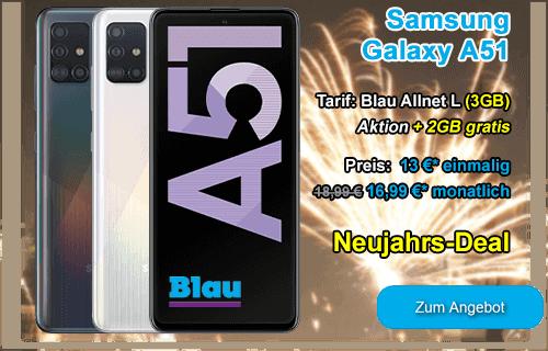 Neujahrs-Angebot von Blau.de - Samsung Galaxy A51
