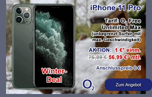 Apple iPhone 11 Pro als Winter-Angebot bei o2