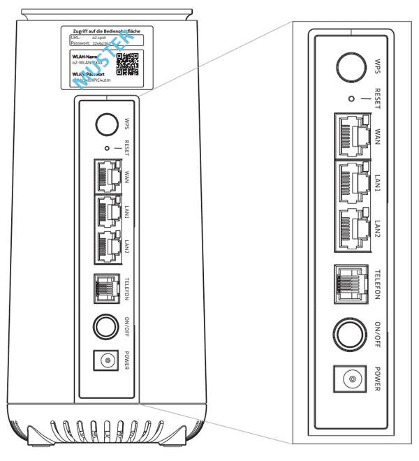 o2 HomeSpot 5G Router - Details (hinten)