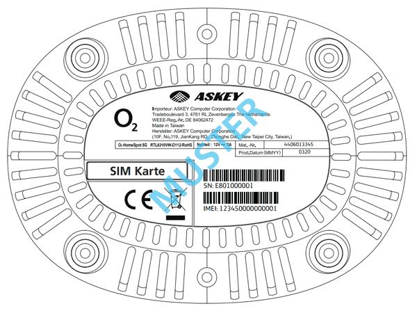 o2 HomeSpot 5G Router - Details (unten)