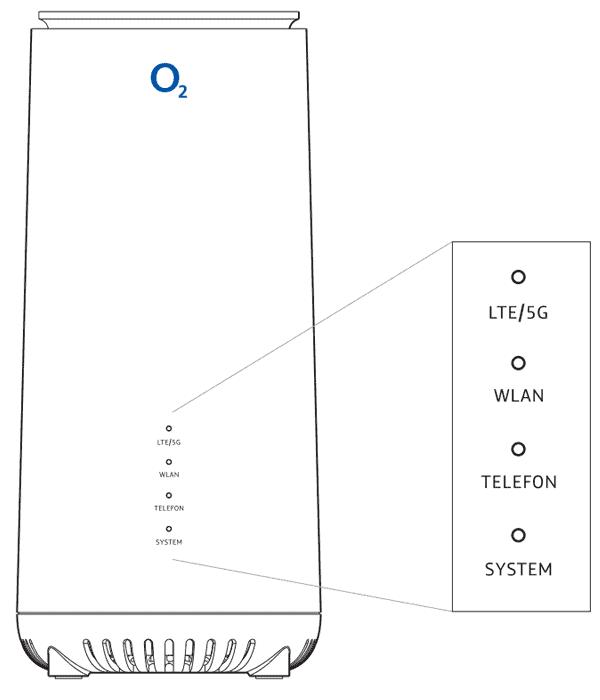 o2 HomeSpot 5G Router - Details (vorn)