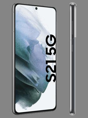 o2 - Samsung Galaxy S21 5G - grau / phantom gray - seitlich