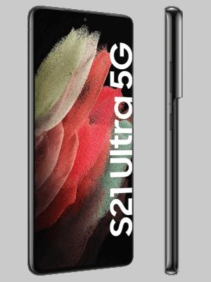 o2 - Samsung Galaxy S21 Ultra 5G - phantom black (schwarz) - seitlich