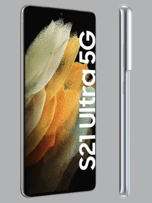 o2 - Samsung Galaxy S21 Ultra 5G - phantom silver (silber) - seitlich