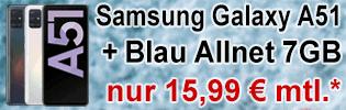 Samsung Galaxy A51 bei Blau.de