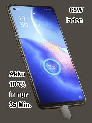 o2 - Oppo Find X3 Lite 5G - Akku schnell laden
