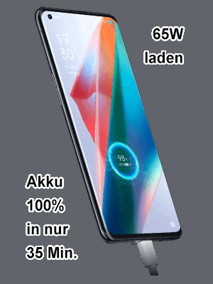 o2 - Oppo Find X3 Pro 5G - Akku schnell laden