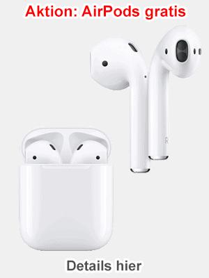 Apple AirPods gratis zum iPhone - mit o2 Vertrag