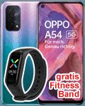 o2 - Oppo A54 5G - mit gratis Fitnessband
