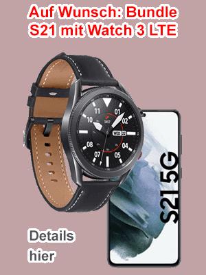 o2 Aktion - Samsung Galaxy S21 mit Watch 3