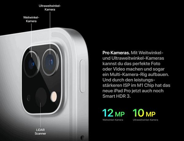 "Kamera vom Apple iPad Pro 12,9"" 5G"