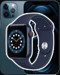Apple Watch 6 + iPhone 12 Pro - blau
