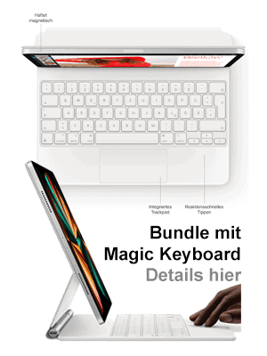 "o2 – Apple iPad Pro 11"" 5G mit Magic Keyboard"
