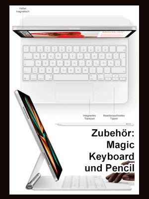 "o2 – Apple iPad Pro 12,9"" 5G - Zubehör Magic Keyboard und Pencil"