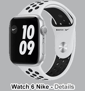 o2 - Apple Watch 6 - Alu Nike Edition - silber