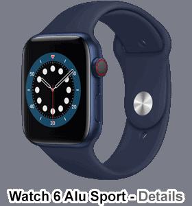 o2 - Apple Watch 6 - Alu Sport - blau