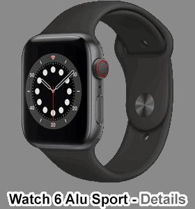 o2 - Apple Watch 6 - Alu Sport - spacegrau