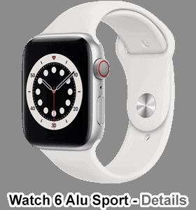 o2 - Apple Watch 6 - Alu Sport - silber