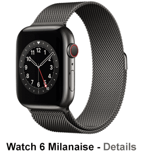 o2 - Apple Watch 6 - Edelstahl Milanaise - graphit