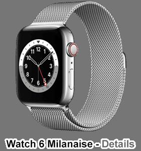 o2 - Apple Watch 6 - Edelstahl Milanaise - silber