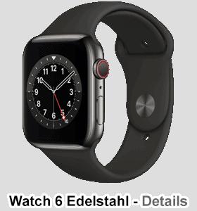 o2 - Apple Watch 6 - Edelstahl Sport - graphit