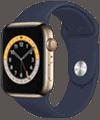 o2 - Apple Watch 6 - Edelstahl Sport 44mm - gold