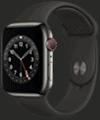 o2 - Apple Watch 6 - Edelstahl Sport 44mm - graphit