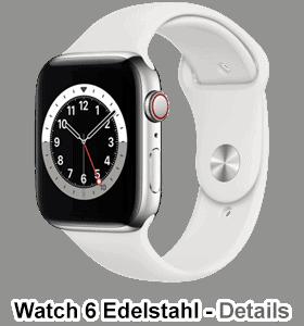 o2 - Apple Watch 6 - Edelstahl Sport - silber