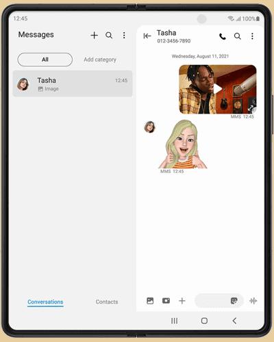 Display innen (aufgeklappt) vom Samsung Galaxy Z Fold3 5G