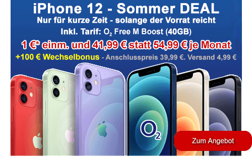 Apple iPhone 12 als Sommer-Deal bei o2