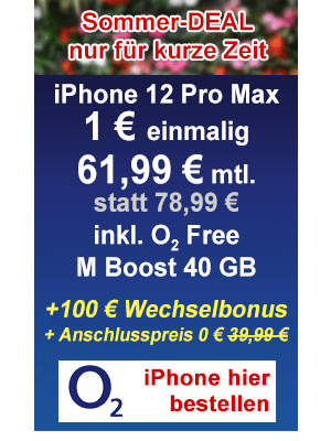 o2 Sommer-Angebot Apple iPhone 12 Pro Max
